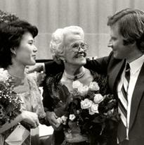 Ning Liang, Mirjam Helin and Vladimir Chernov 1984 winners