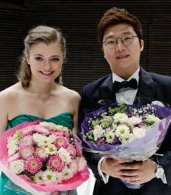 Kateryna Kasper and Beomjin Kim 2014 winners
